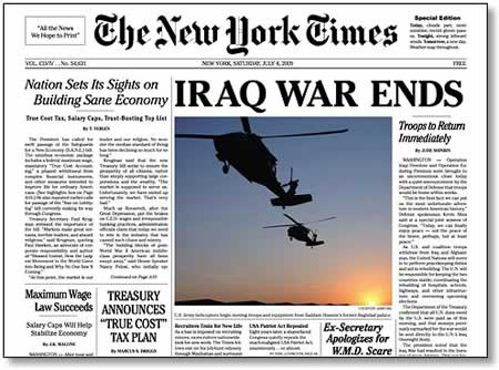 Iraq War Ends: The New York Times