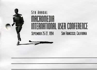 5th Annual Macromedia International User Conference notepad (September 25-27, 1994 San Francisco, California)