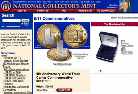 National Collector's Mint 5th Anniversary World Trade Center Commemorative