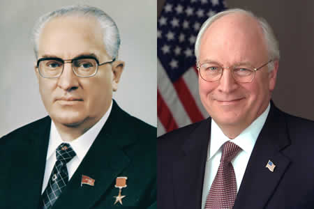 Separated At Birth: Yuri Andropov and Dick Cheney