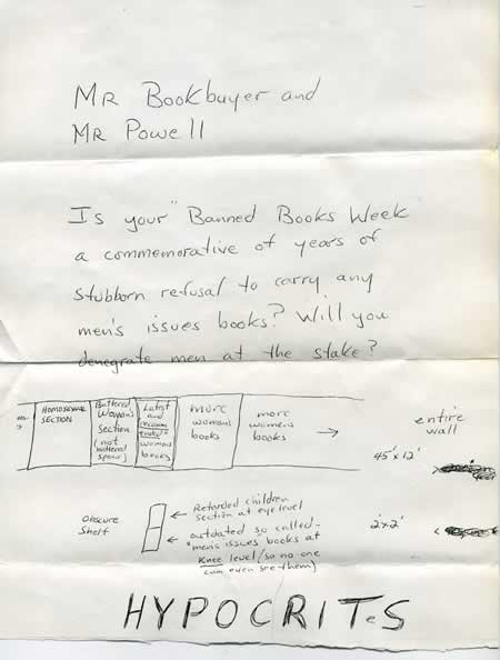 Crazy letter about Banned Books Week
