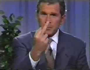 Bush Gives You the Finger
