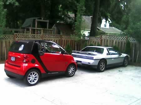 smart passion cabrio and Pontiac Fiero