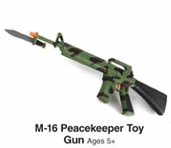 M-16 Peacekeeper Toy Gun