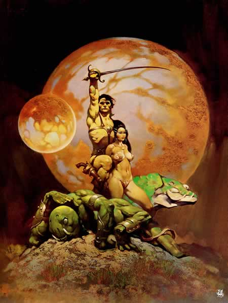 Frank Frazetta's art for 'Princess of Mars'