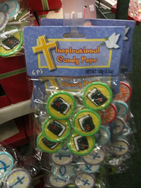 Inspirational Candy Pops - Bibles