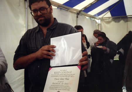 Holding my diploma, 20 May 1990