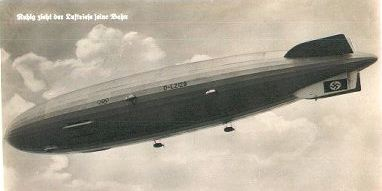 The Hindenberg in Flight