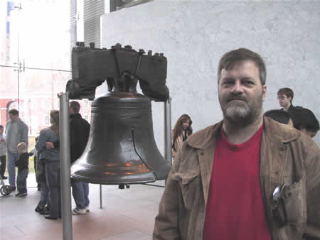 Darrel Plant at the Liberty Bell, 28 March 2008