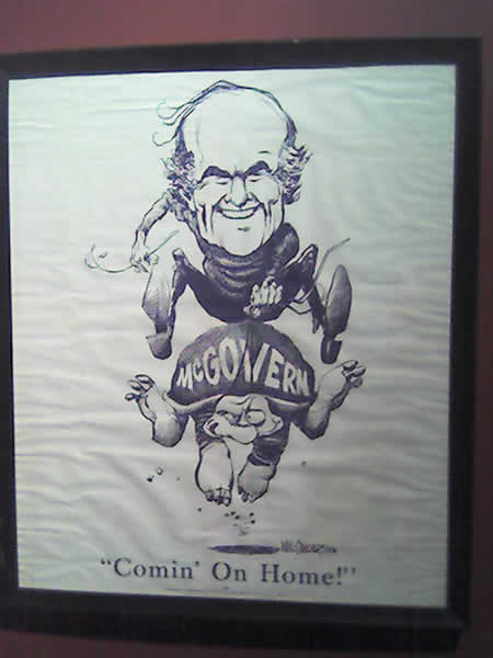 1972 McGovern campaign poster from Oregon