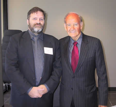 Darrel Plant and George McGovern at the McGovern Conference, 6 November 2007