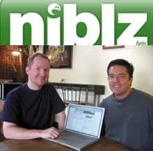 Niblz.com founders Nathan Pryor and David Shireman (photo from Vancouver Business Journal's Megan Patrick)