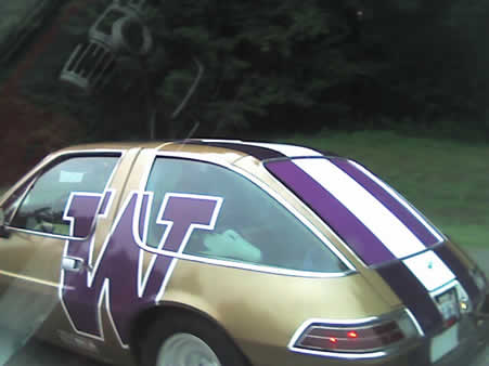 AMC Pacer in University of Washington colors