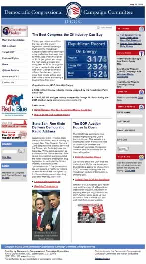DCCC Home Page, 13 May 2006
