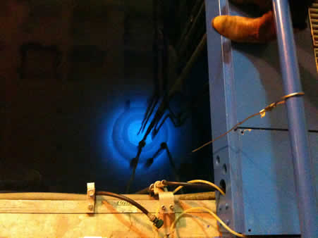 Cherenkov radiation in the Reed College nuclear reactor