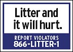 Litter and it will hurt