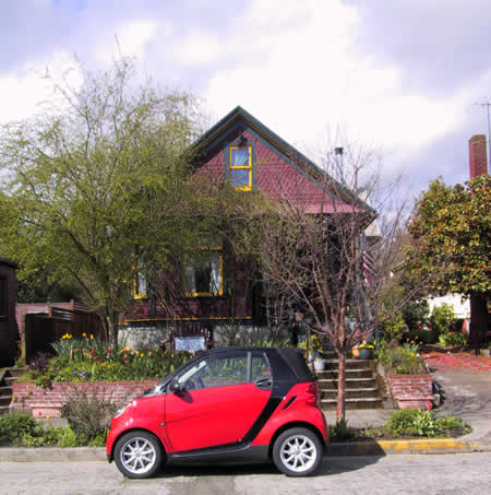 smart car's first day at home