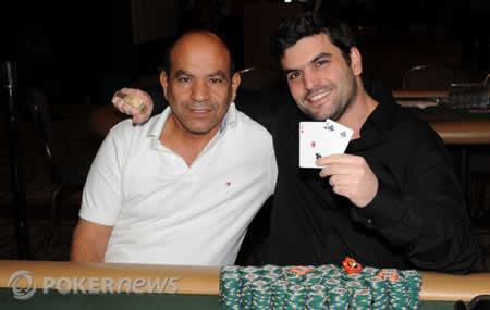 WSOP Event 56 bracelet winner Tomer Berda and his father