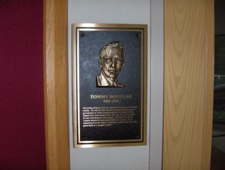 Tommy Douglas memorial plaque at the IAMAW's  William W. Winpisinger Education & Technology Center