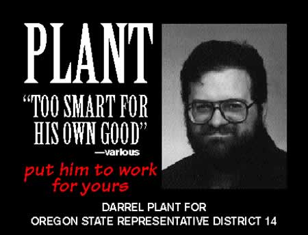 1994 Darrel Plant campaign ad: 'Too Smart for His Own Good. Put Him to Work for Yours'